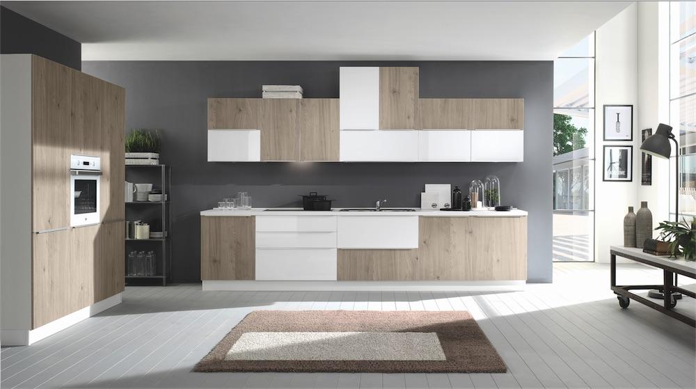 Cucina moderna rovere grigio cool cucina moderna rovere - Cucina rovere bianco ...